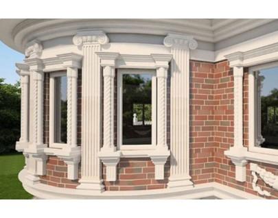 Фасадный декор из пенопласта с защитным покрытием