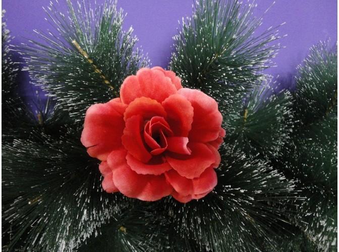 """Цветочная головка роза """"Барби"""" красная Ø9,5см (1шт)"""