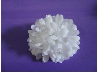 Цветочная головка хризантема белая Ø12см (набор 5 шт)