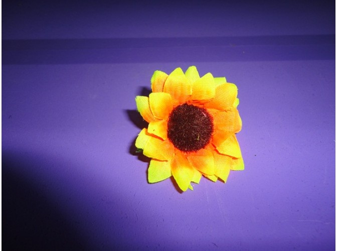 Цветочная головка подсолнух (ткань) Ø6см (1шт)