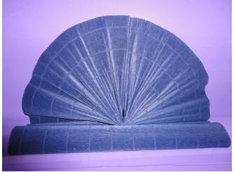 Гофрированная бумага №542/водостойкая /синий/ 50х250см (1рулон)