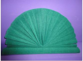 Гофрированная бумага №250/малахитово-зеленый / 50х250см (1рулон)