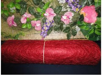 Сизалевое полотно, цвет бордовый 48х9ярд (1рулон)