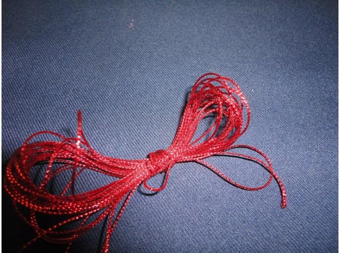 Шнур декоративный красный 1ммх5м (1шт)