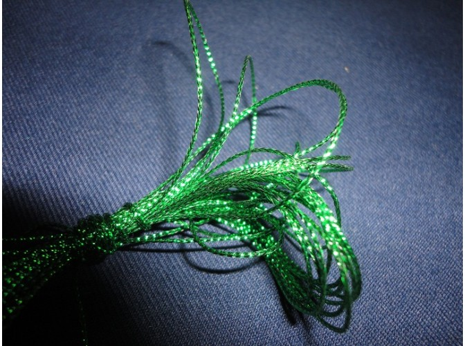Шнур декоративный зеленый 1ммх5м (1шт)