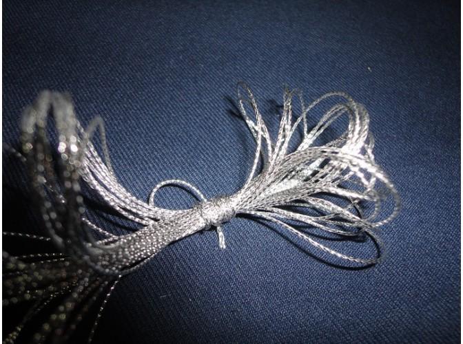 Шнур декоративный серебрянный 1ммх5м (1шт)