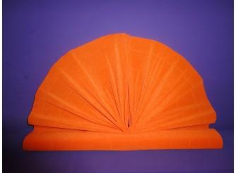 Гофрированная бумага №581/оранжевый/ 50х250см (1рулон)