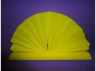 Гофрированная бумага №575/желтый/50х250см (1рулон)