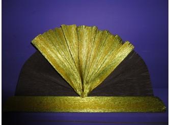 Гофрированная бумага №801-6 /двухсторонняя метал / золото-коричневый/50х250см (1рулон)