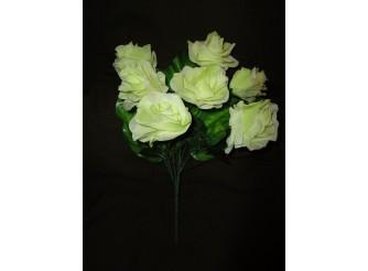 Букет роз с широким листом розовый h45cм, 7 голов (1шт)