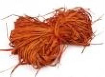 Рафия натуральная оранжевая 25гр (1пак)