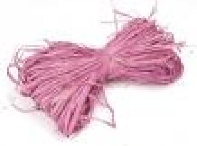 Рафия натуральная розовая 25гр (1пак)