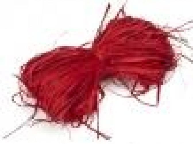 Рафия натуральная красная 25гр (1пак)