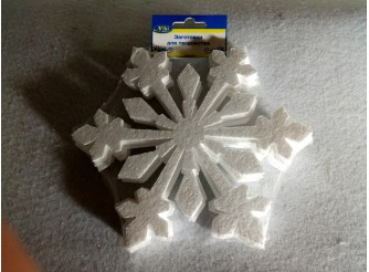 "Снежинки на окна ""Искрящийся снег""/пенопласт ( набор 10шт) Выбор диаметра"
