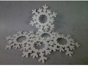 "Снежинки на окна ""Колотый лед""/пенопласт ( набор 10шт) Выбор диаметра"