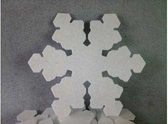"""Снежинки на окна """"Снежный цветок""""/ пенопласт (набор 10шт) Выбор диаметра"""