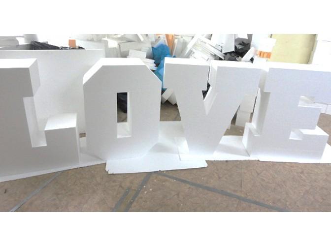 """Буквы из пенопласта """"LOVE"""" h100см, w30см (1 комплект)"""