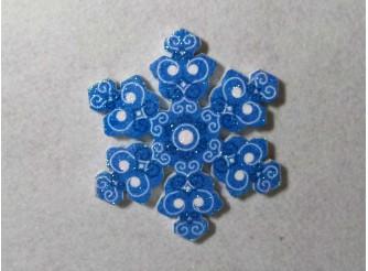 """Снежинка """"Голубое чудо""""/пенопласт/принт (1шт) Выбор диаметра"""