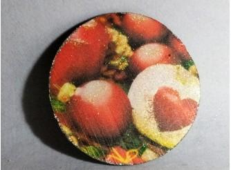 """Диск с картинкой """"Красные шары""""/пенопласт/принт (1шт) Выбор диаметра"""