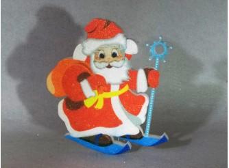 "Декор ""Дед Мороз на лыжах"" h25см/пенопласт/принт  (1шт)"