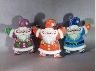"Декор ""Дед Мороз в колпаке"" h25см/ пенопласт/принт (1шт)"