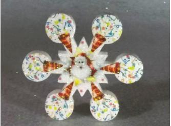 """Снежинка  """"Серпантин""""/пенопласт/принт (1шт) Выбор диаметра"""