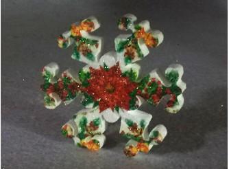"""Снежинка  """"Рождественский цветок""""/пенопласт/принт (1шт) Выбор диаметра"""