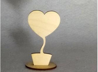 "Заготовка топиарий ""Сердце""на подставке /фанера (1шт)"