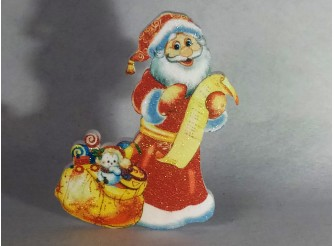 "Декор ""Дед Мороз с подарками"" h30см/ пенопласт/принт (1шт)"