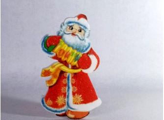 """Декор """"Дед Мороз с гармошкой"""" h30см/ пенопласт/принт (1шт)"""