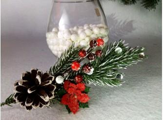 """Букетик новогодний """"Зимние ягоды"""" 20см (1шт)"""