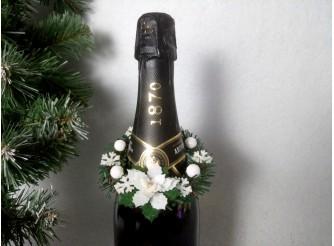 """Веночек на шампанское """"Рождественский цветок"""" Ø11см (набор 5шт)"""