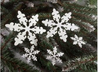 """Снежинка из фетра """"Новогодняя сказка"""" ассорти (набор 5шт)"""