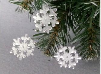 """Зеркальная снежинка """"Зимнее волшебство"""" d 5 см  (набор 5 шт)"""