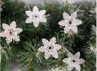 """Зеркальная снежинка """"Новогодние узоры"""" d 5см (набор 5 шт)"""