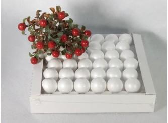 Шар из пенопласта Ø4 см / гладкий (коробка 80шт)