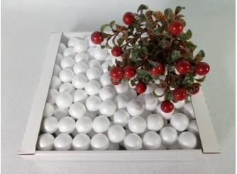 Шар из пенопласта Ø3 см / гладкий (коробка 170 шт)