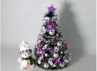 """Новогодняя елка """"Сиреневое чудо"""" h43см/d29 см (1шт)"""
