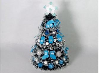 """Новогодняя елка """"Голубая сказка"""" h35см/d24 см"""