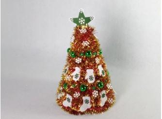 """Новогодняя елка """"Варежки - носочки"""" h35см/d24 см"""