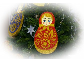 """Декор """"Русская матрешка""""/блеск 40*2,5 см (1шт)"""
