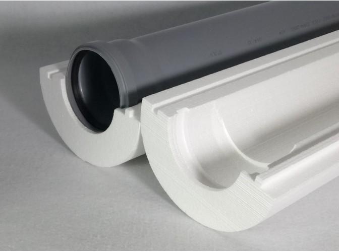 """Теплоизоляция для труб """"Скорлупа"""" для трубы 120 мм (1м)"""