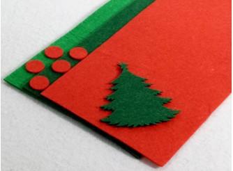 """Твердый фетр 1мм """"Св.зеленый, т.зеленый, красный"""" 15*15см (набор 3 шт)"""