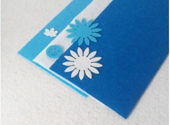 "Твердый фетр 1мм ""Синий, белый, голубой"" 15*15см (набор 3 шт)"