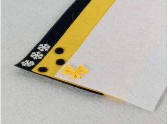 """Твердый фетр 1мм """"Белый, желтый, черный"""" 15*15см (набор 3 шт)"""