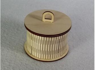 Шкатулка  круглая 10*10*7см / фанера  (1шт)