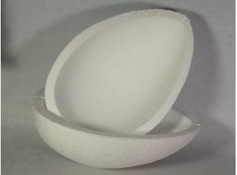Яйцо из пенопласта полое h35 см/две продольные половинки (1шт)