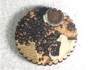 """Подставка под стакан """"Кофейные зерна""""10см/круг (набор 6 шт)"""