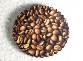 """Подставка под стакан """"Золотистый кофе""""10см/круг (набор 6 шт)"""