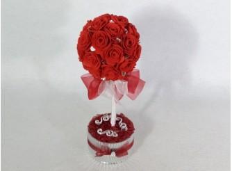 """Топиарий """"Красные розы любви"""" h 30см (1шт)"""